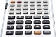Close up shot of calculator buttons
