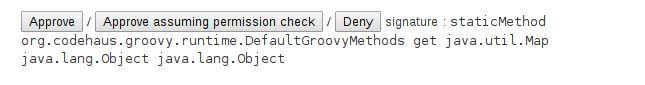 options in Script Approval UI