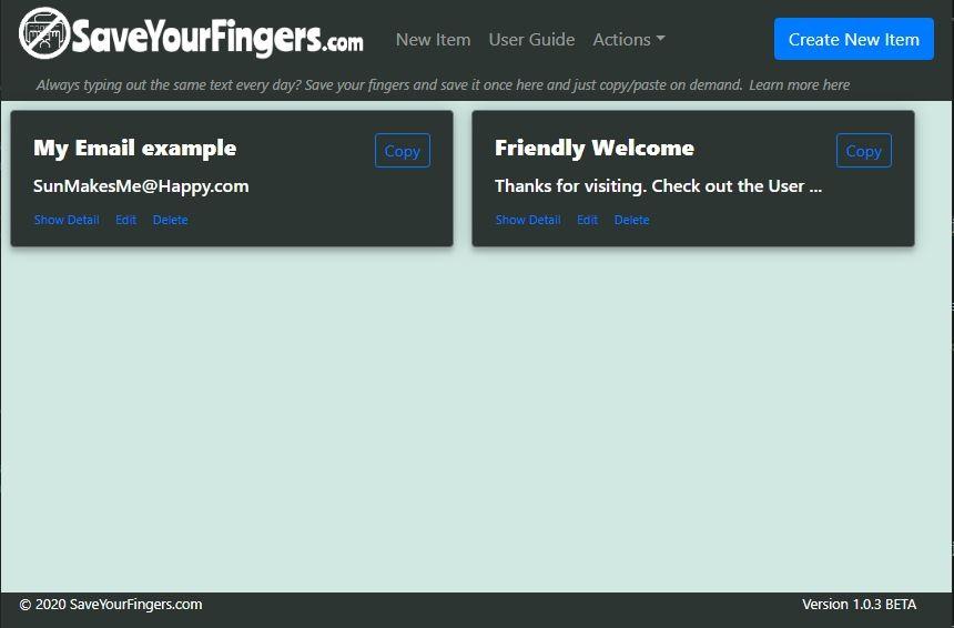 SaveYourFingers.com